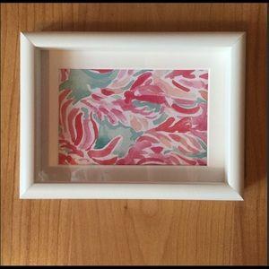 Lilly Pulitzer Framed print !
